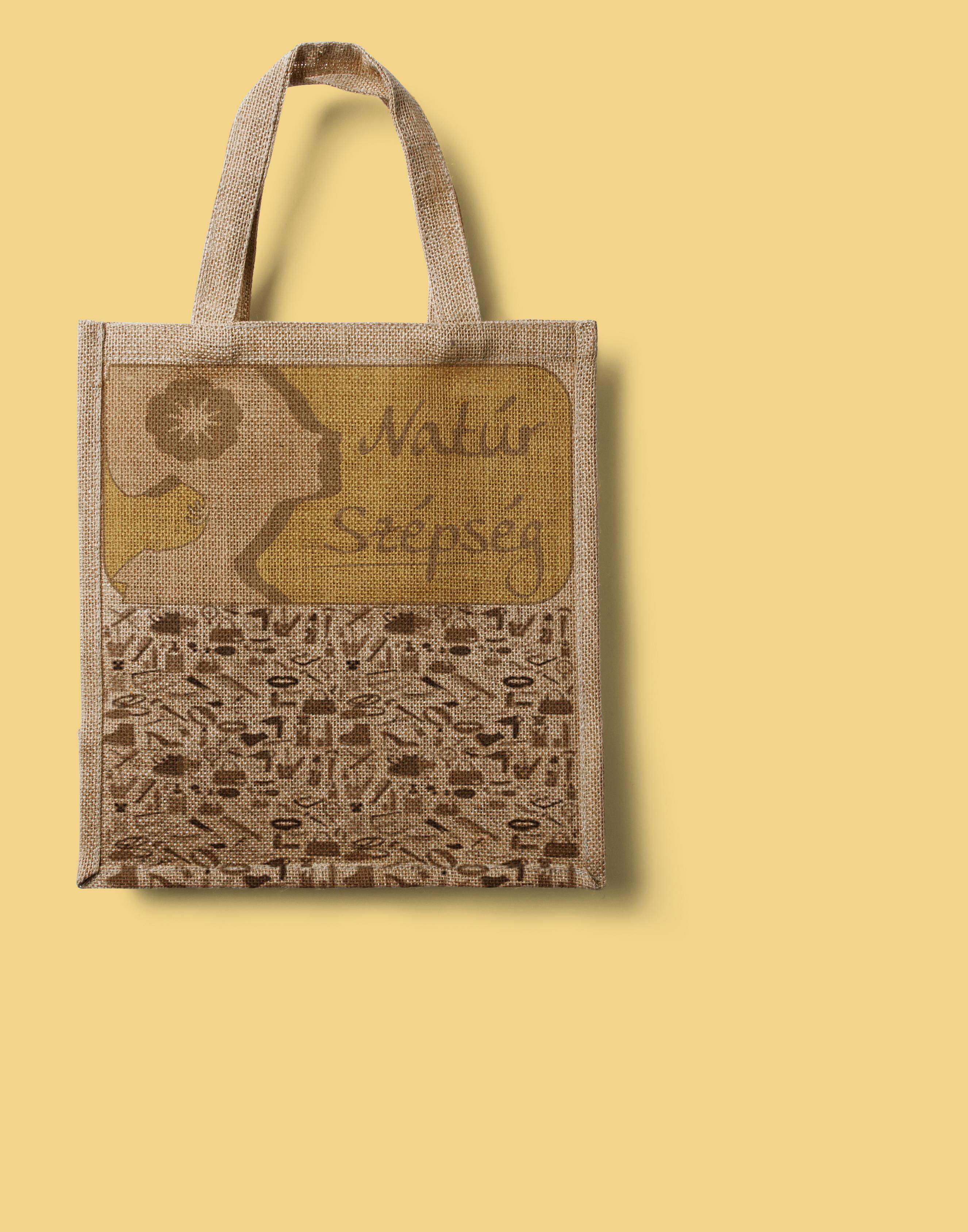 Natúr szépség logó táskán
