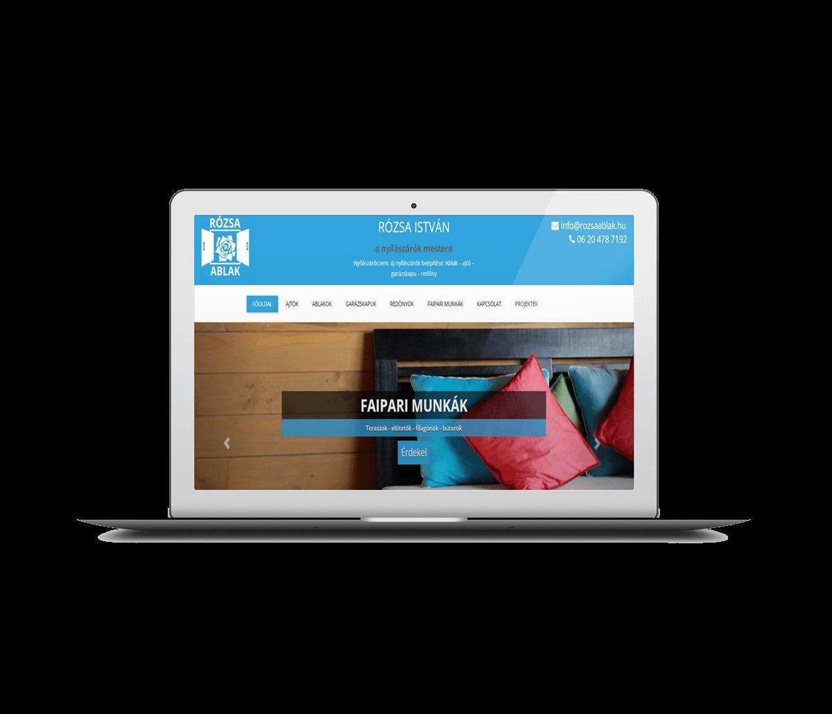 Nyílászárós honlap vállalkozónak – esettanulmány